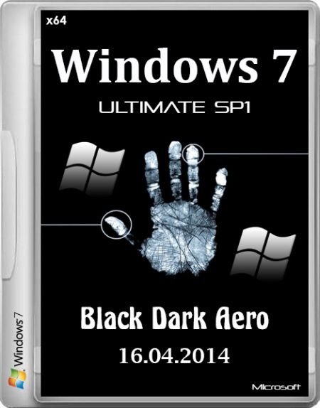 Скачать с turbobit Windows 7 SP1 x64 Ultimate Black Dark Aero by Qmax® (2014) RUS