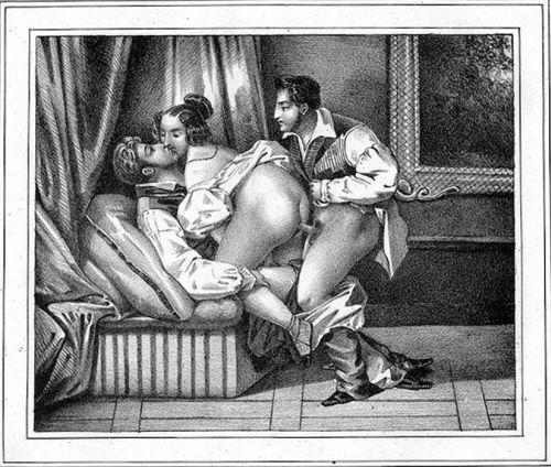 Старинные рисунки в стиле порнографии