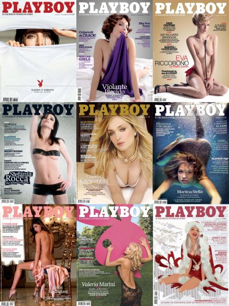 Скачать с turbobit Playboy № 1-12 (2009) Italy